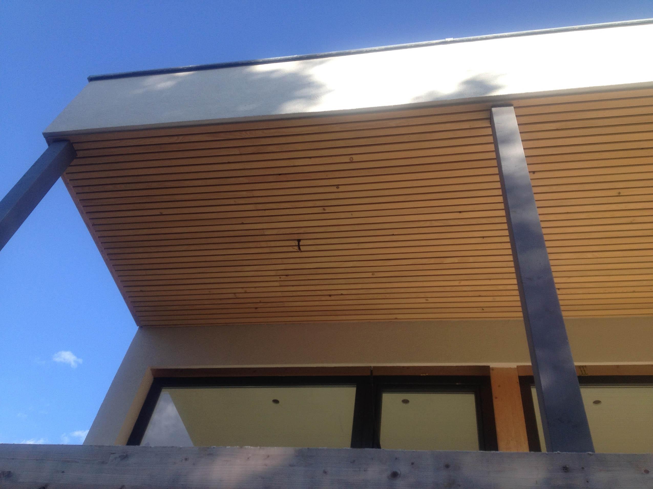 Construction toit Terrasse Construction D Une Maison Ossature Bois Contemporaine à