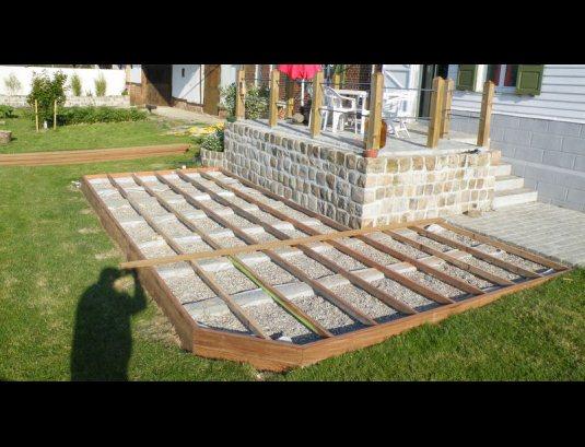Terrasse bois construire