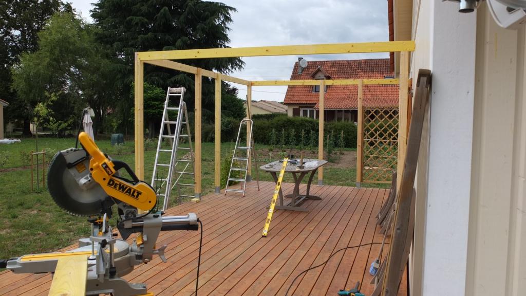 Autoconstruction d une pergola en bois Autoconstruction