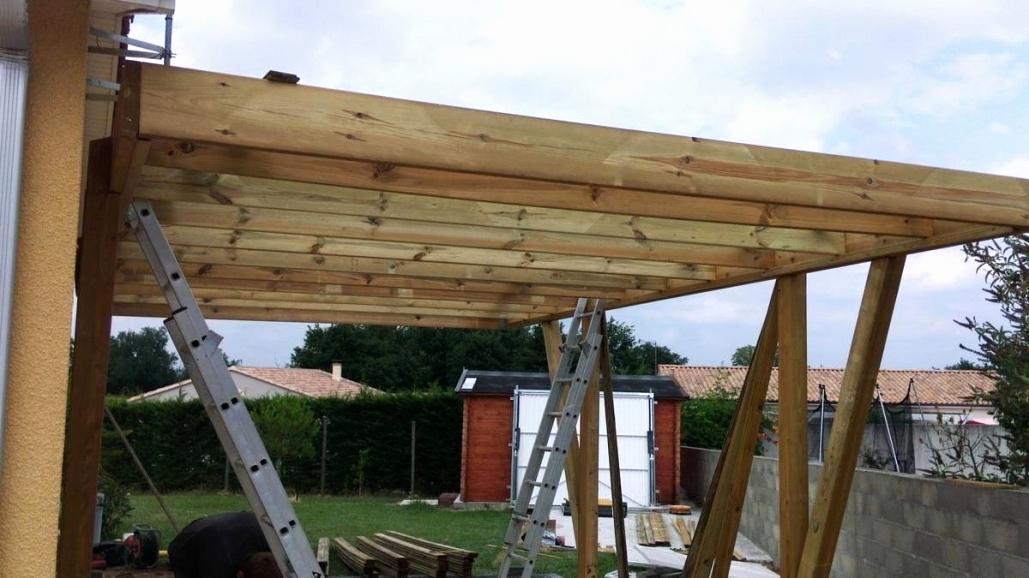 Construire Une Pergola Couverte Schème