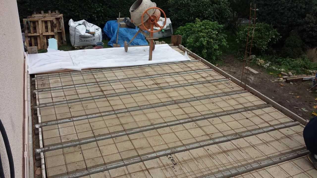 ment réaliser une fondation et une terrasse en béton
