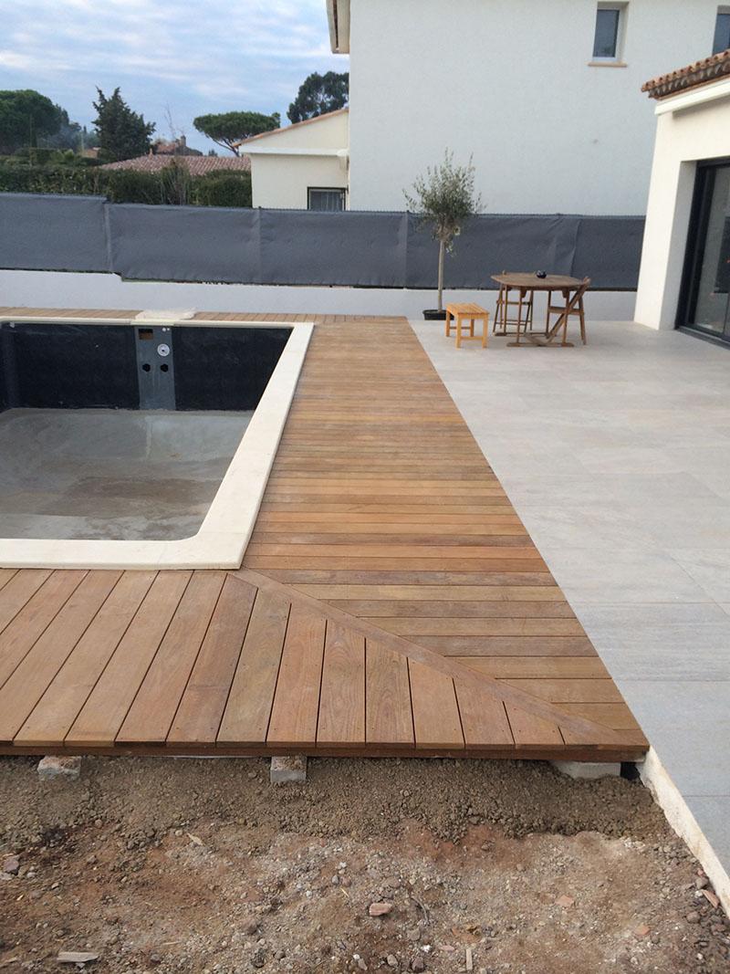 Terrasse en bois exotique Ipé à Saint Raphaël ITB