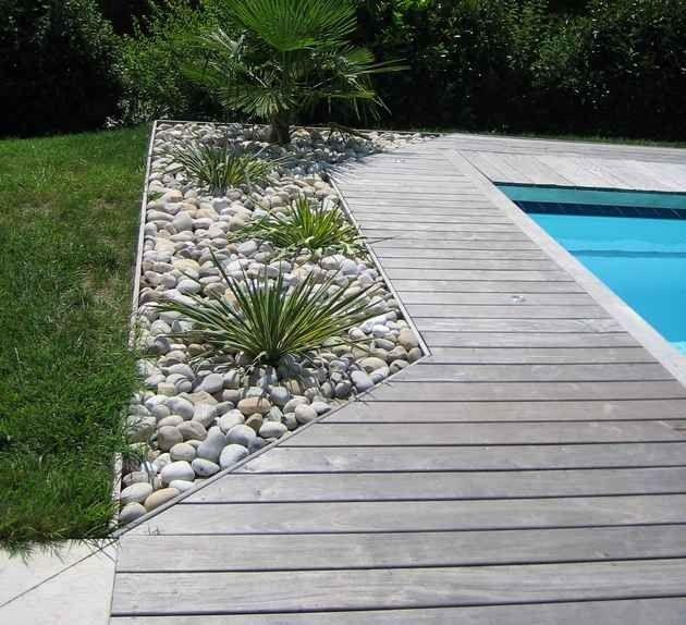 terrasse piscine bois ou pierre Terrasse