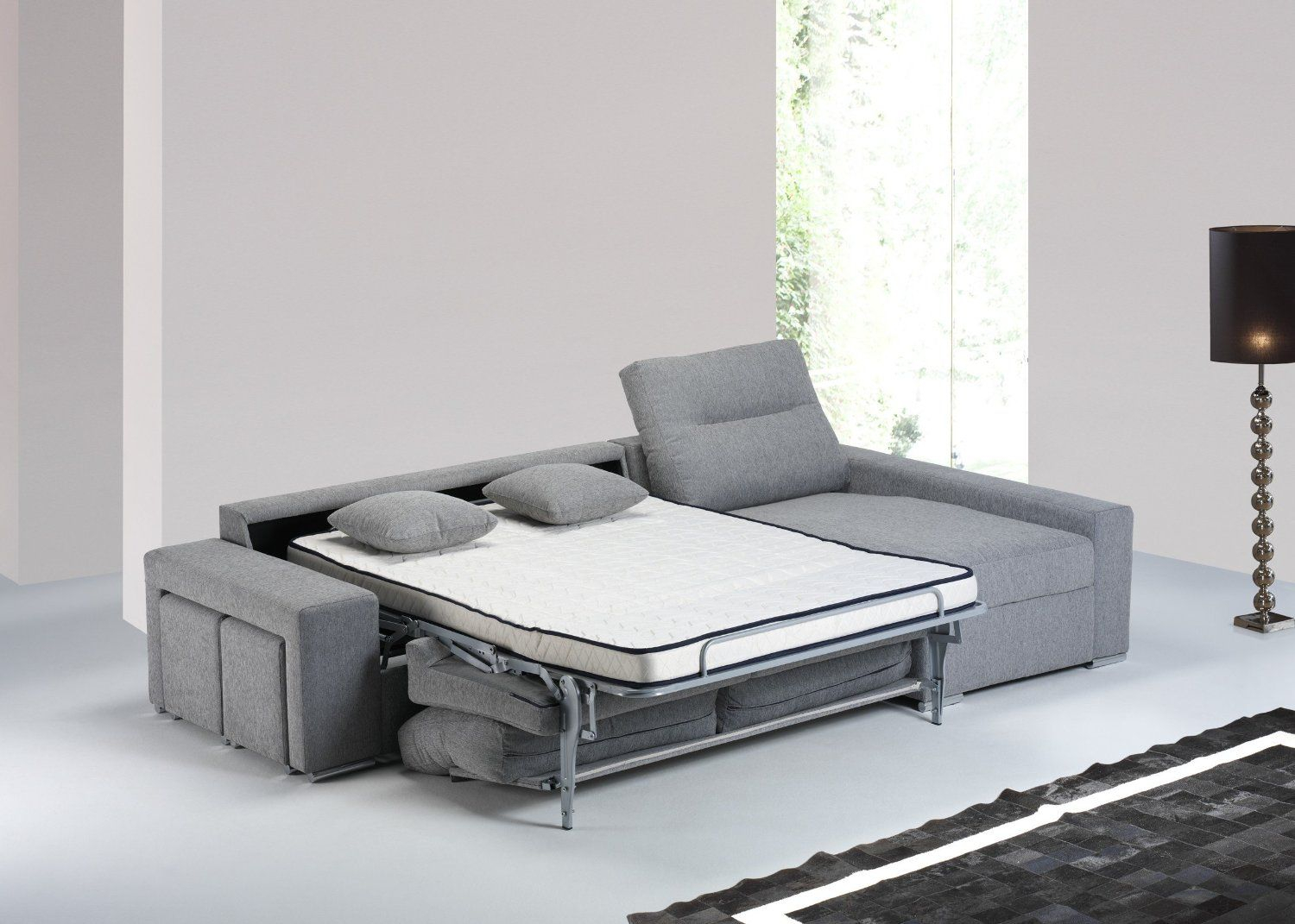 Canapé convertible d angle CONDE couchage quoti n 140