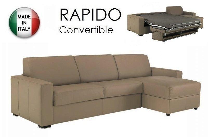 Canapé d angle dreamer convertible ouverture rapido 120cm