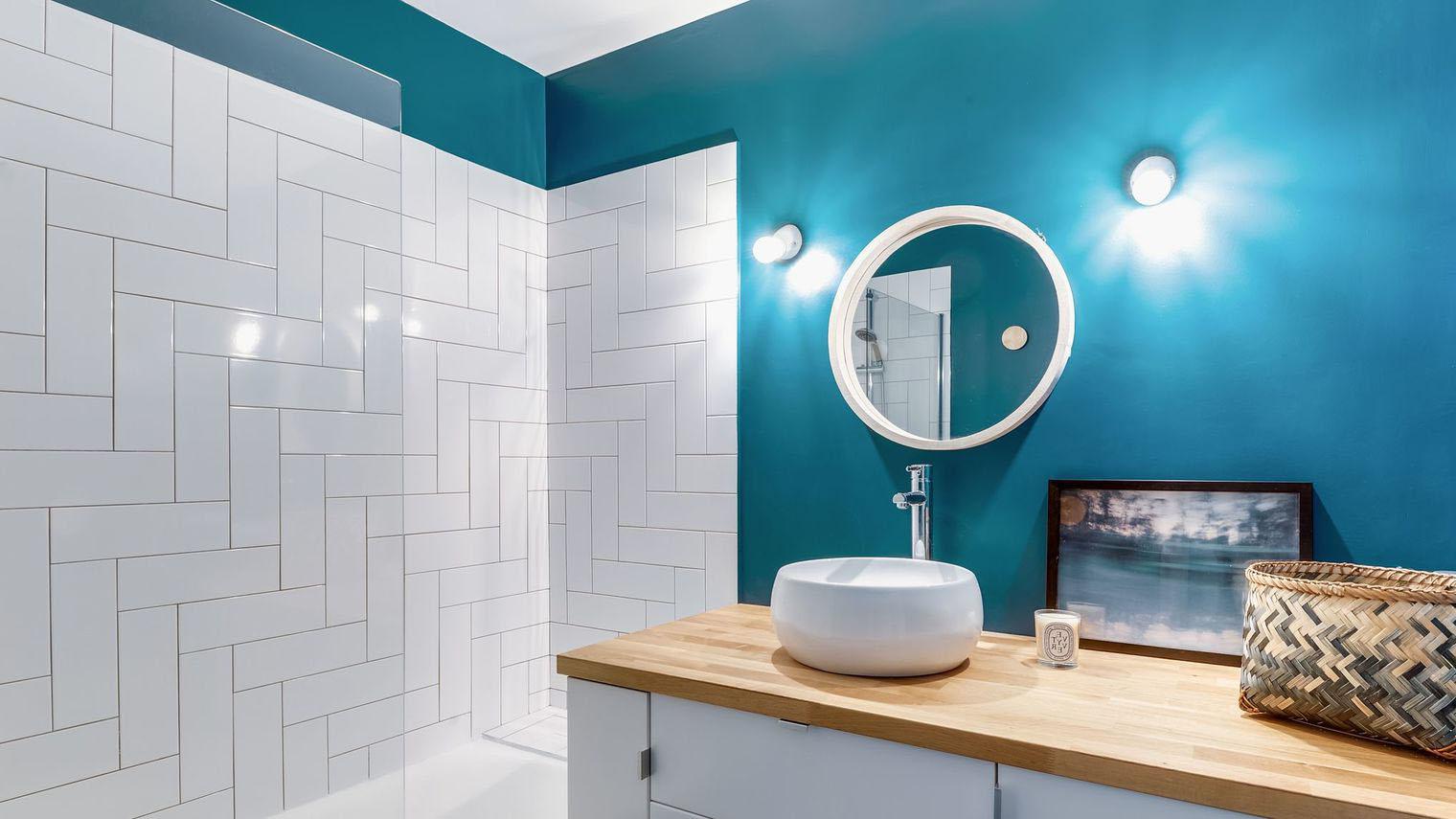 Peinture salle de bain 40 idées de couleurs pour une