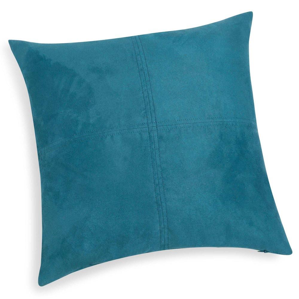 Coussin bleu de saxe 40 x 40 cm SWEDINE