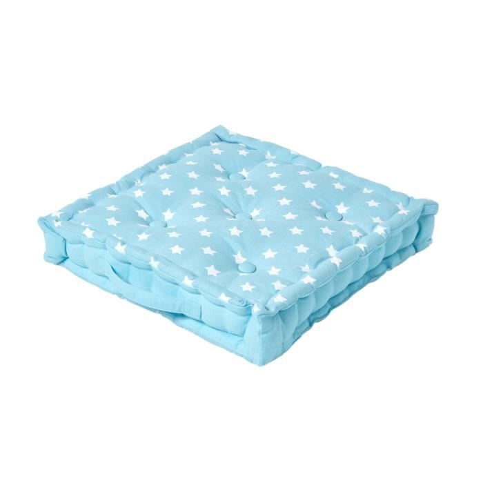 Coussin de sol Bleu Étoiles 40 x 40 cm Achat Vente