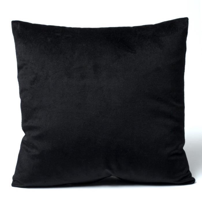 Housse coussin velours 40 x 40 cm Velours noir Achat