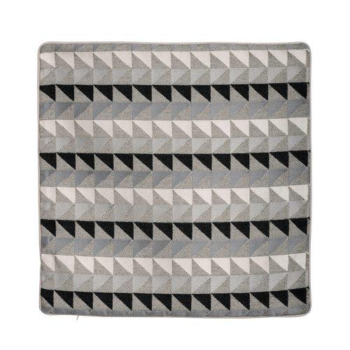 Housse de coussin AZTEC coloris gris 40 x 40 cm noir
