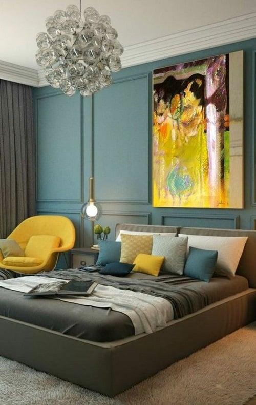 5 idées décoration pour une chambre bleu canard