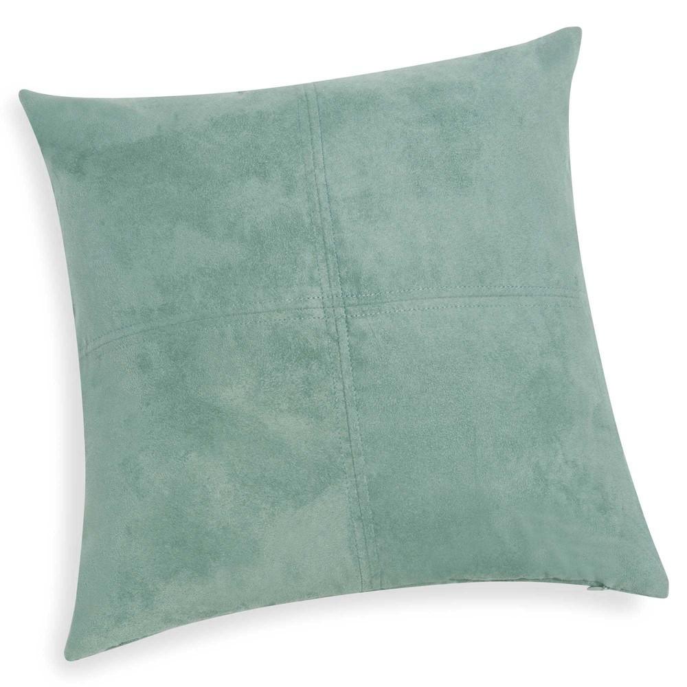 Coussin en tissu bleu vert 40x40 SWEDINE