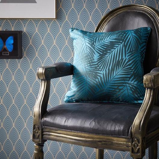 Coussin Bleu Vert Coussin Nerea Bleu Vert L 40 X H 40 Cm