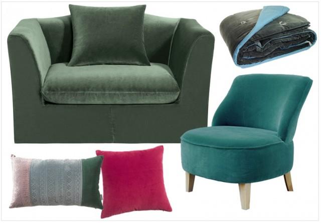 Des fauteuils en velours coloré Joli Place