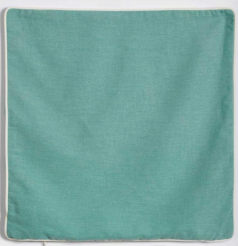 Housse de Coussin en Lin Lavé Bleu Vert Antharcite