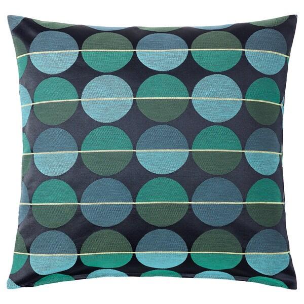 OTTIL Housse de coussin bleu vert IKEA