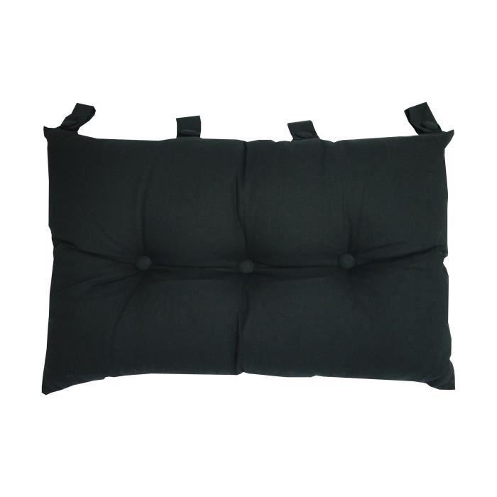 Tete de lit coussin noir Achat Vente pas cher