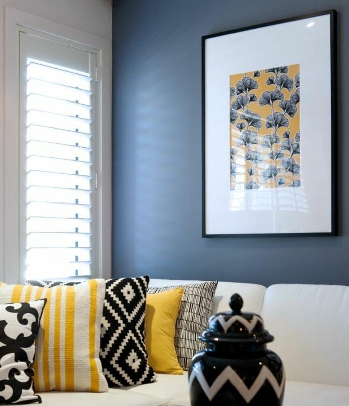 Coussin Jaune Et Bleu 1001 Idées Créer Une Déco En Bleu Et Jaune Conviviale