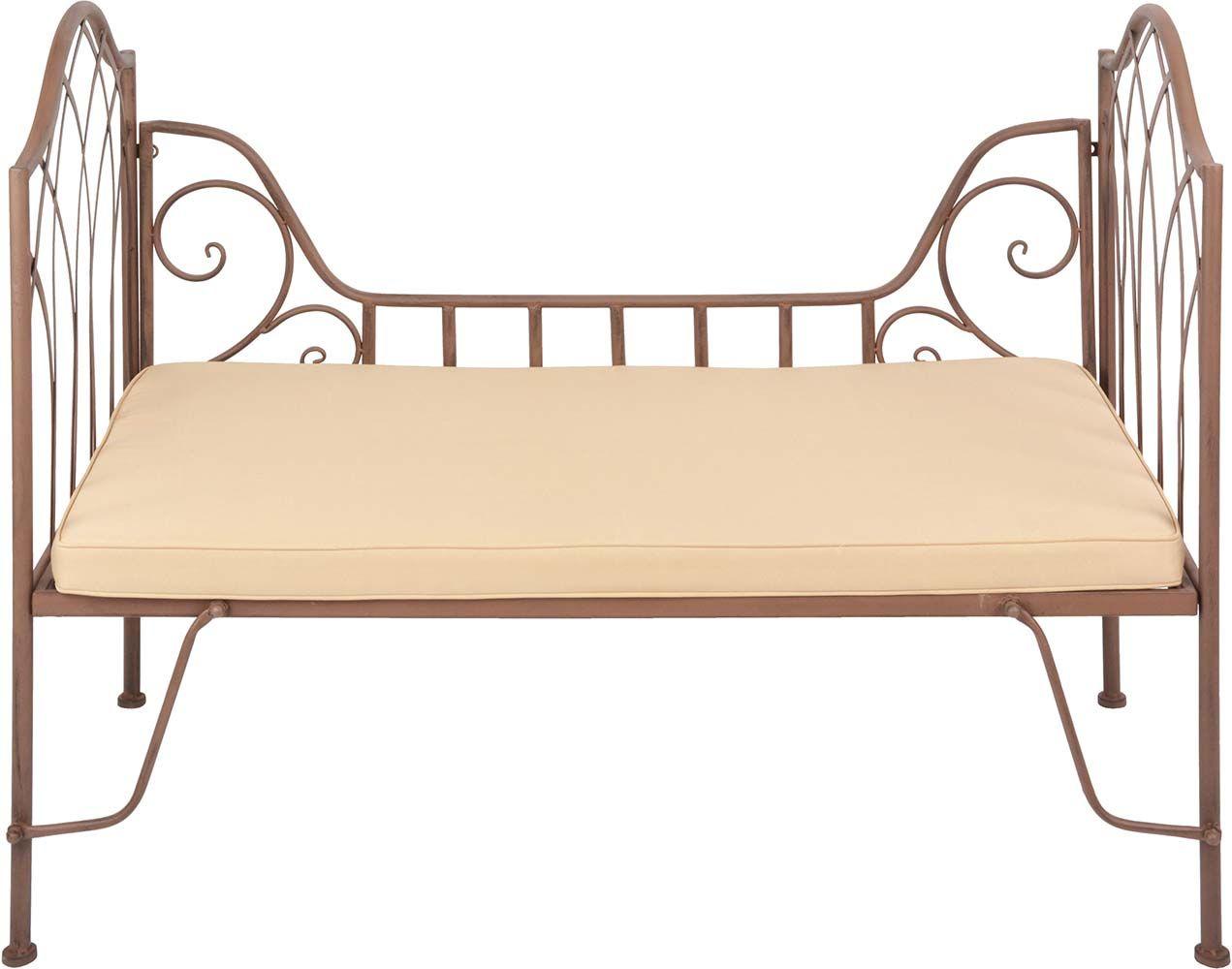 Coussin pour lit de jardin en métal
