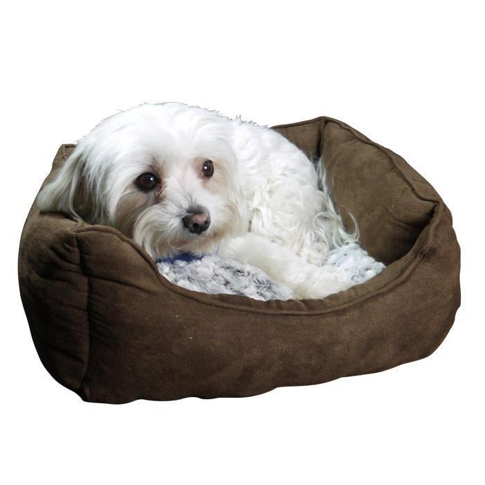 Petit canapé lit pour chien avec coussin pour chien
