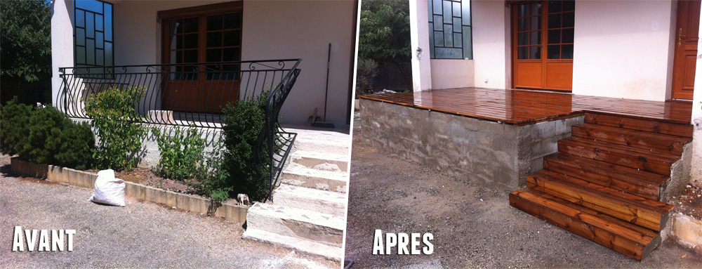 Terrasse bois a moindre cout