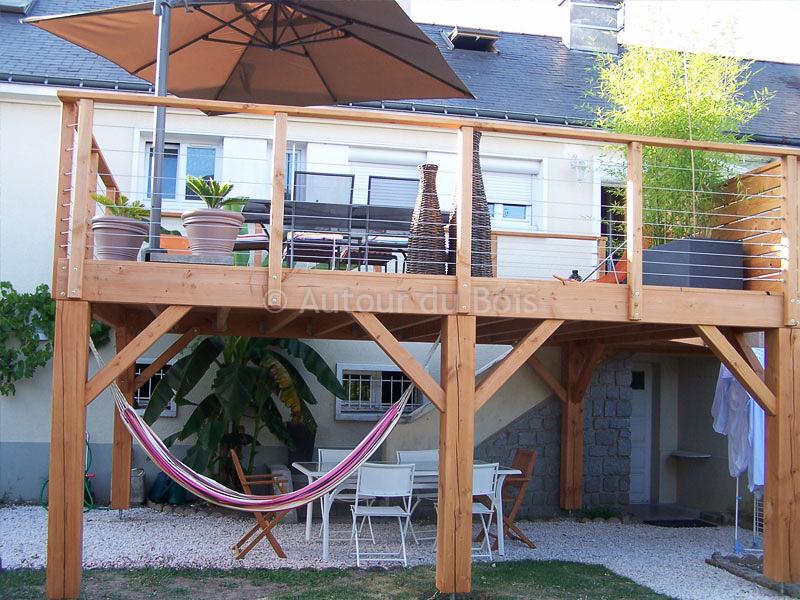 Terrasse bois sur pilotis tarif Nos Conseils