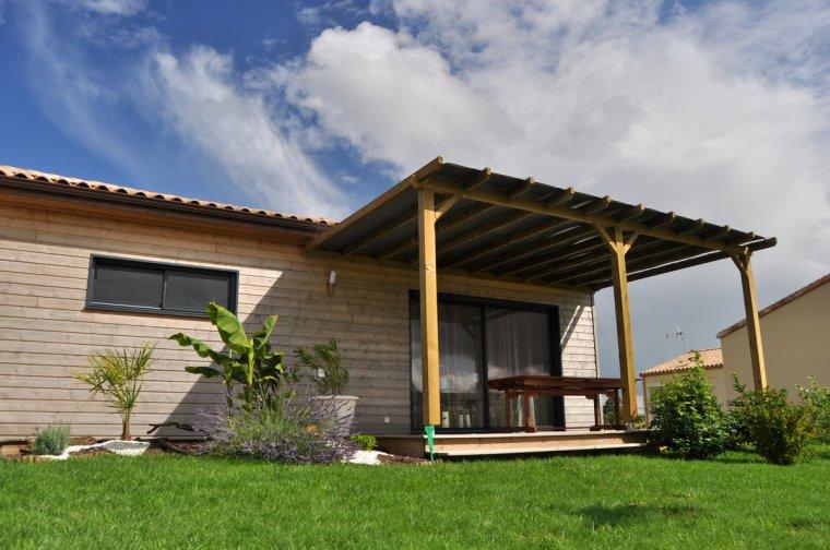 couverture de la pergola construction de ma maison en bois