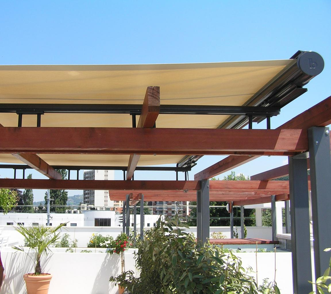 Store horizontal de pergola couverture terrasse