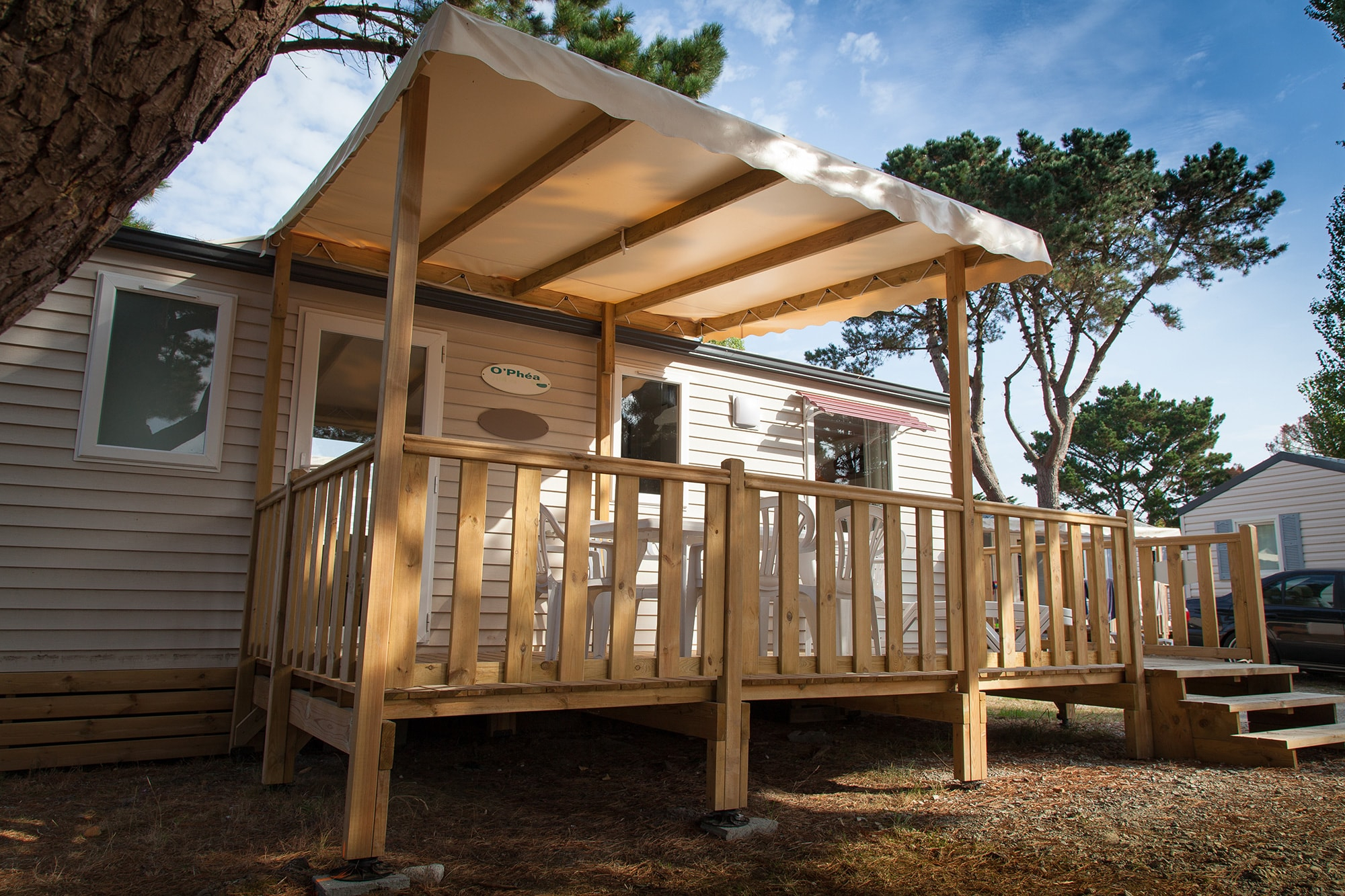 Couverture terrasse mobil home Toiture Pergola Mobil