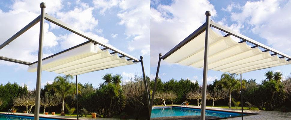 Couvertures de terrasses New avec toile rétractable manuel