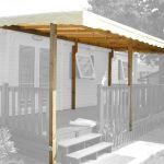 Couverture Terrasse Bois Couverture 6 00 X 2 50 M Pour Terrasse Mobil Home