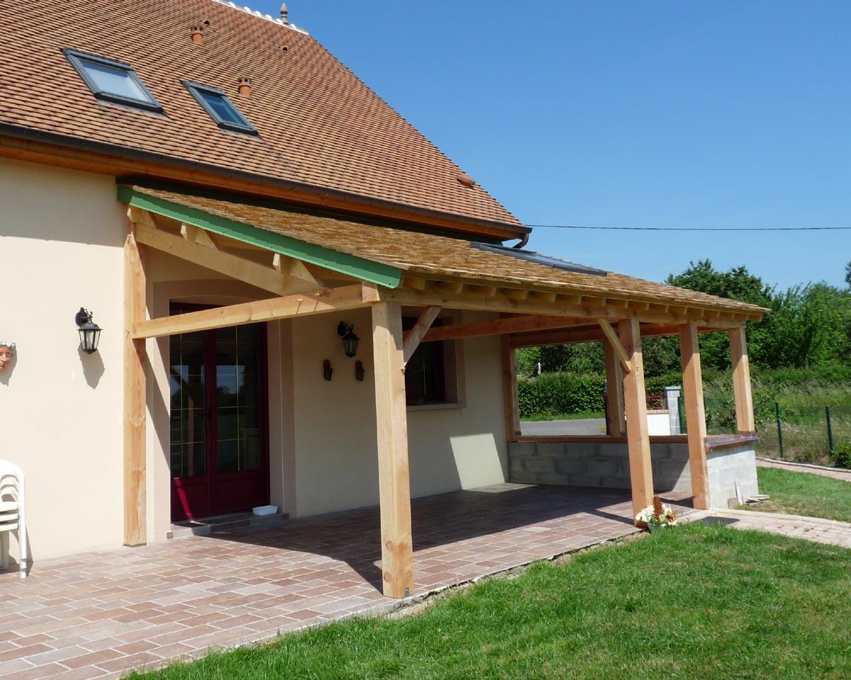 Couvrir Une Terrasse Permis De Construire couvrir une terrasse en bois faire une pergola en bois pour