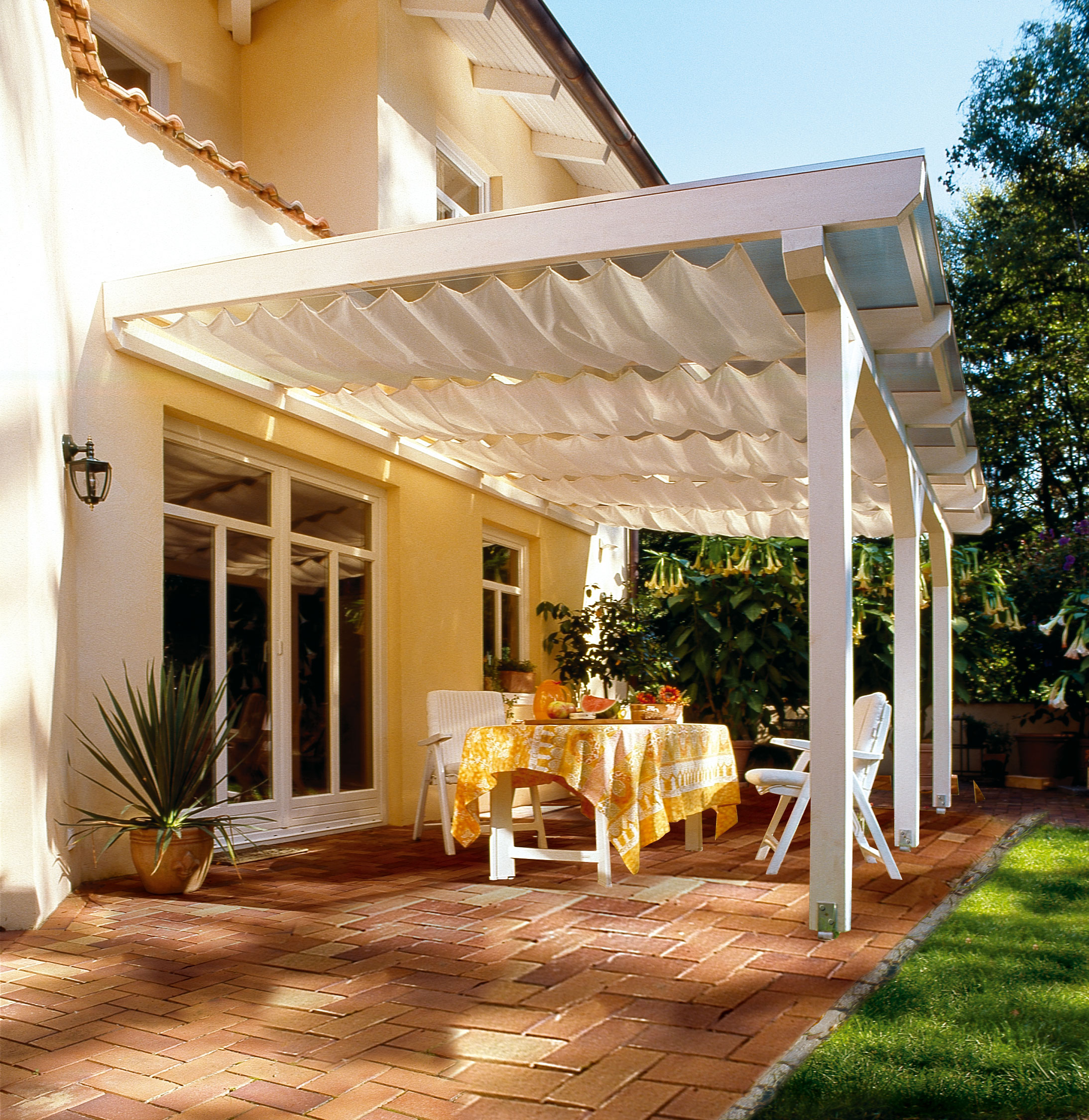 Couvrir Une Terrasse Permis De Construire couvrir une terrasse en dur terrasse couverte auvent