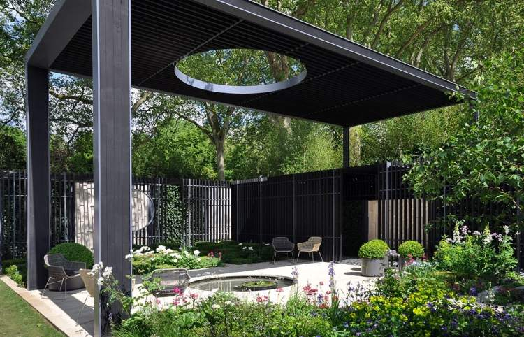 Terrasse couverte auvent terrasse ou pergola pour