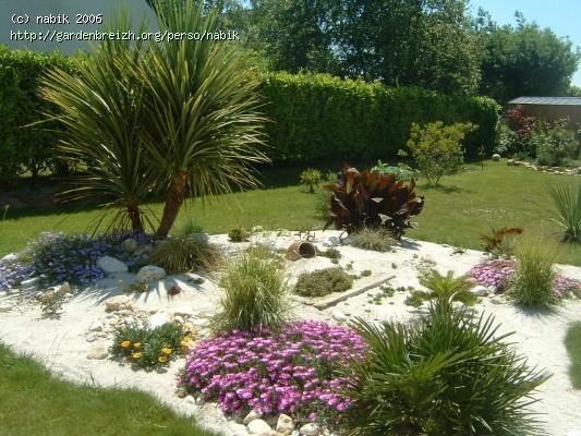 côté sud apres 2 ans de création mon jardin Les