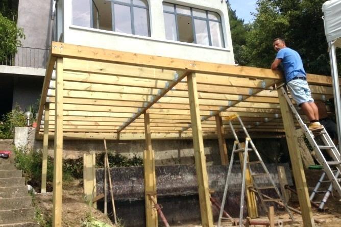 Creer Terrasse Bois Construire Une Terrasse En Bois Creer