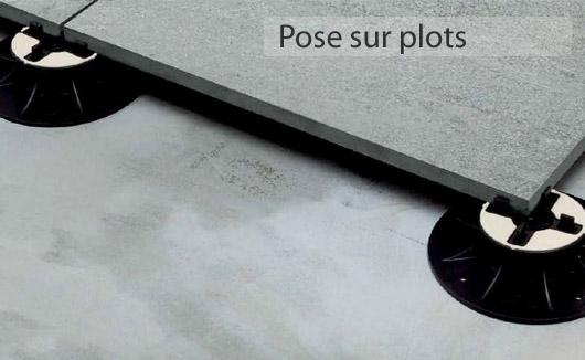 Carrelage dalles en grès cérame de 2cm d épaisseur pour