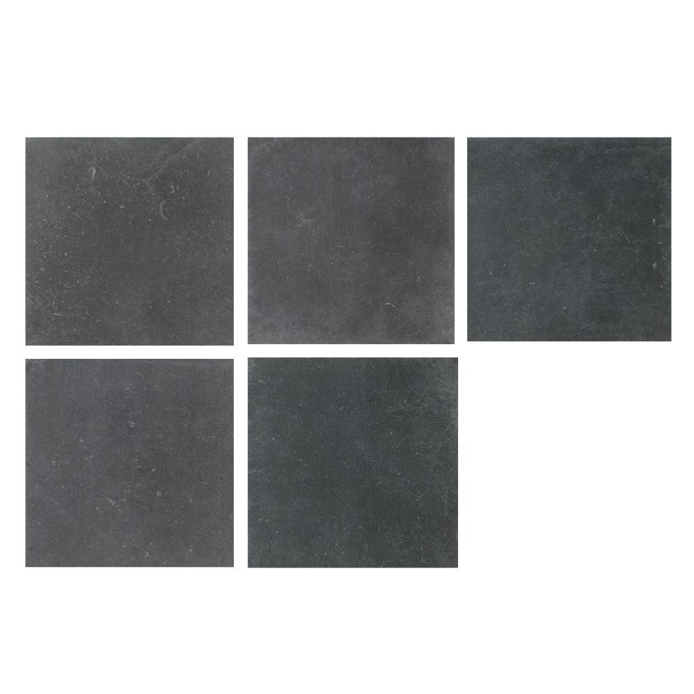 Dalles 19mm imitation pierre extérieur 60x60 Pietra Blu