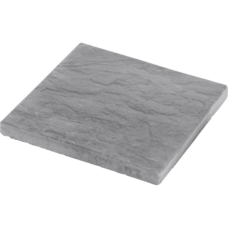 Dalle béton Nuancea gris ardoisé L 40 x l 40 cm x Ep 35