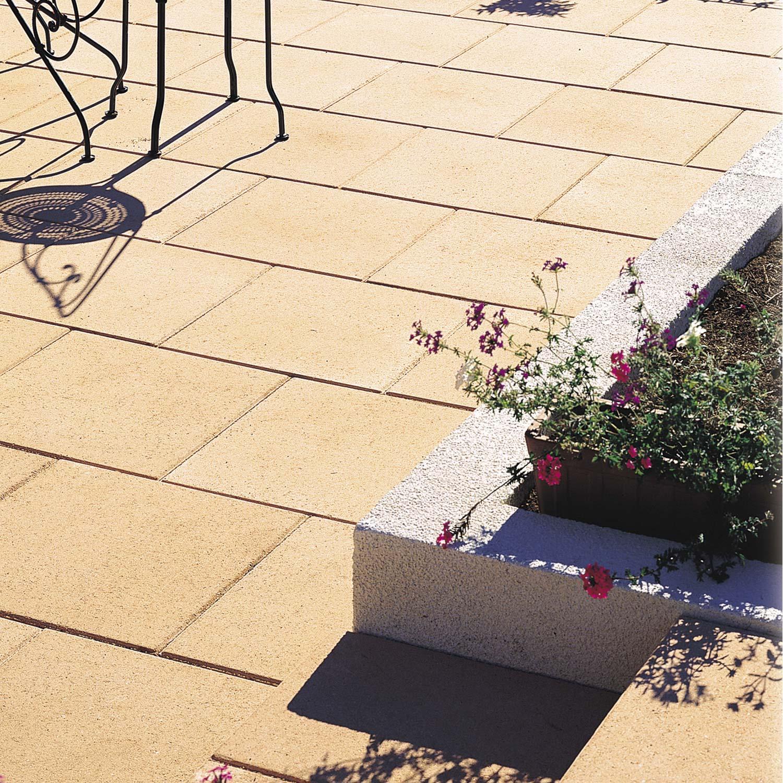 Dalle Beton Exterieur Dalle Béton Provençale Saumon L 50 X L 50 Cm X Ep 50 Mm