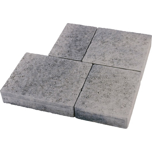 Dalle Beton Leroy Merlin Pave Beton Colisee Multiformat Gris Nuance 25x15 25x20 Idees Conception Jardin Idees Conception Jardin