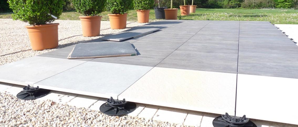 Dalle terrasse beton plot veranda styledevie