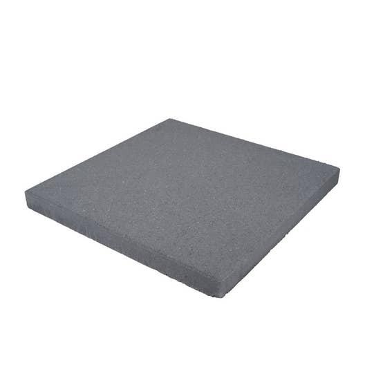 Dalle béton Airial gris L 40 x l 40 cm x Ep 45 mm