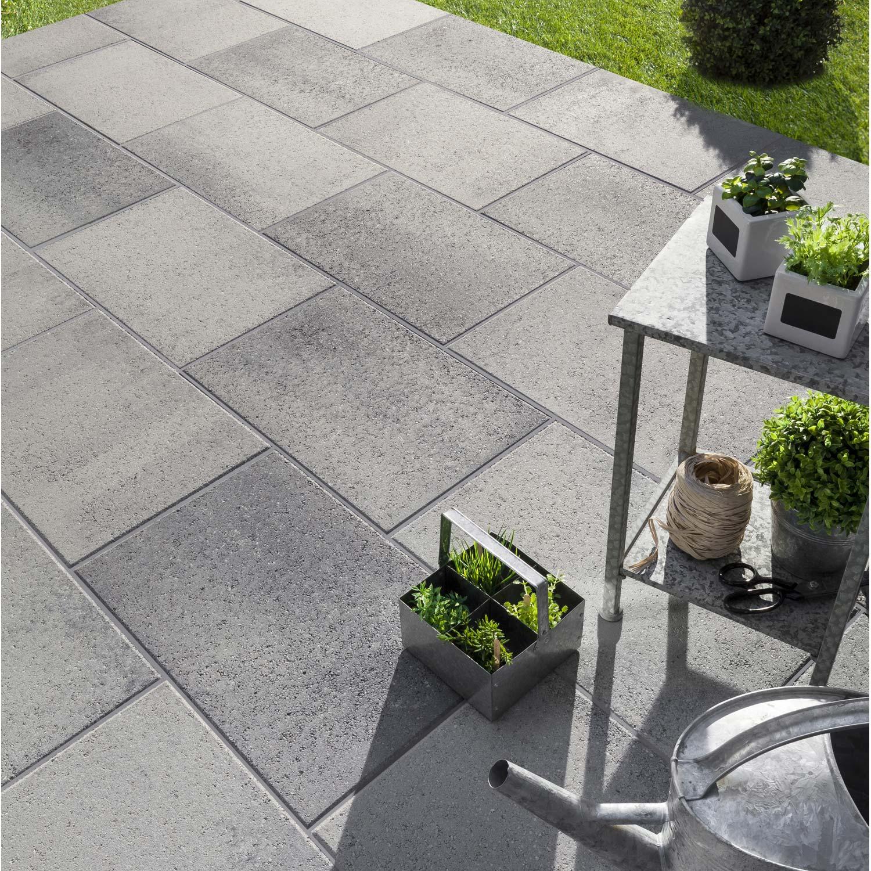 Dalle béton Dalle airial 60 x 40 x 5 0 cm gris granit