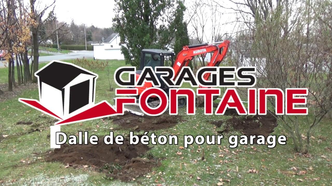 Dalle de béton garage