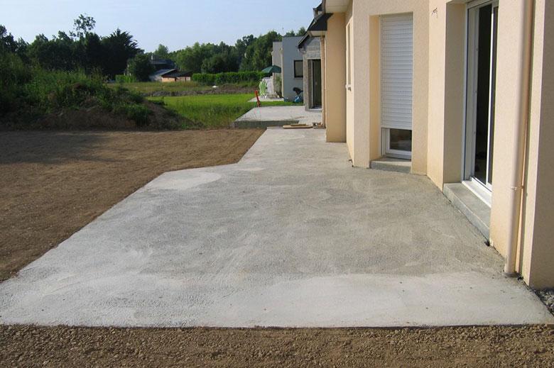 Prix d une dalle de béton en m² pour plancher ou terrasse