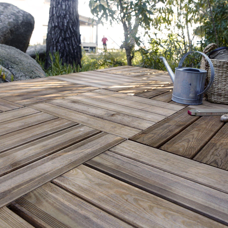 Dalle En Bois Jardin dalle de bois terrasse dalle bois lumo l 50 x l 50 cm x ep