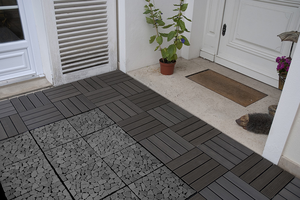 DALLE POSITE ANTHRACITE 30X30X2 4 CM OLG France