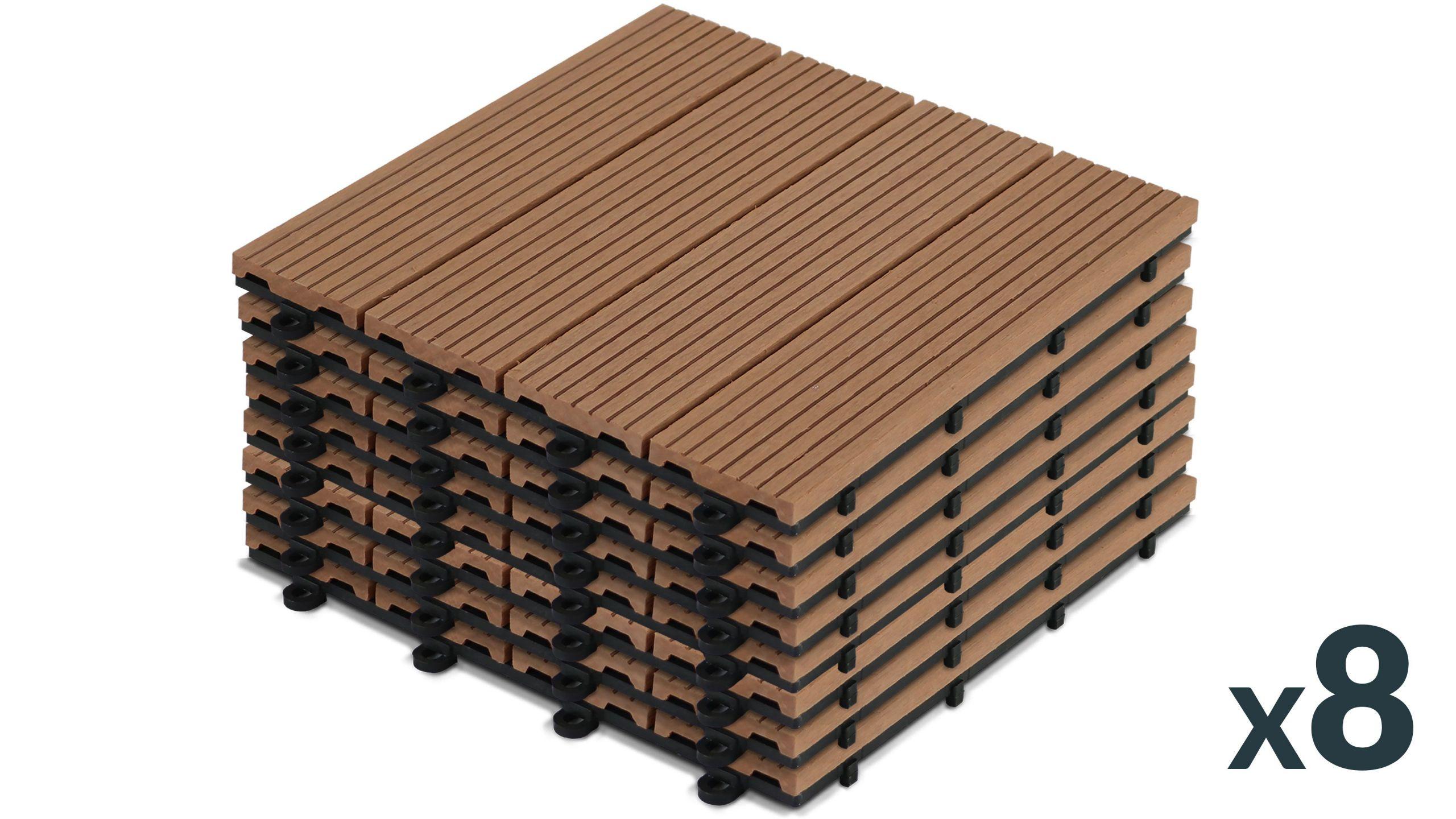 Dalles terrasse clipsables bois posite