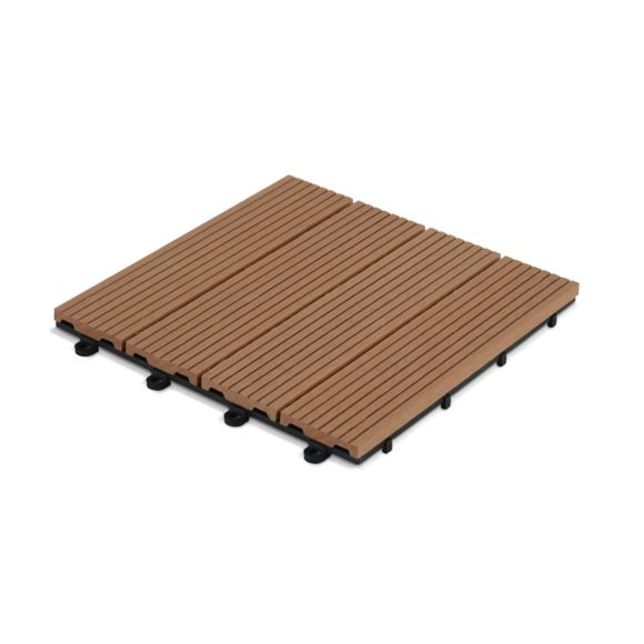 OVIALA Dalle de terrasse clipsable en bois posite